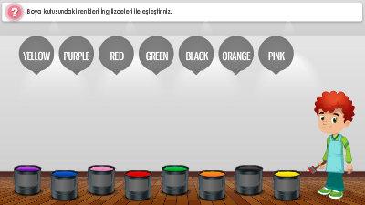 Colours Renkler 2 Sinif Ingilizce Morpa Kampus