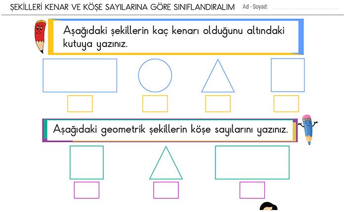 2 Sinif Geometrik Cisimler Ve Sekiller Matematik Odevleri