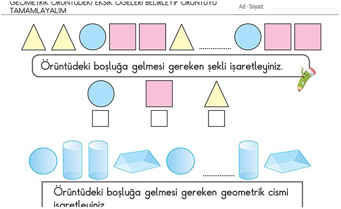 Geometrik Oruntuler 2 Sinif Matematik Morpa Kampus