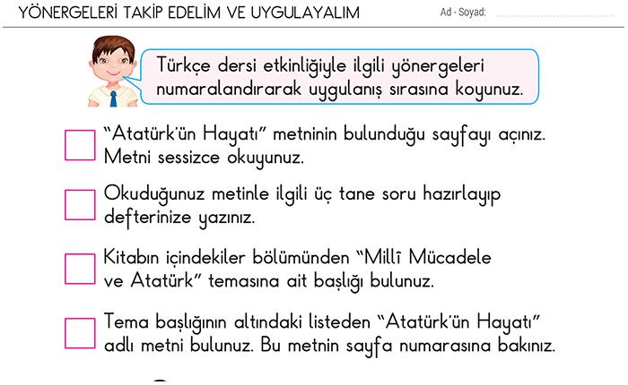 Yonergeleri Takip Edelim Ve Uygulayalim 2 Sinif Turkce Morpa