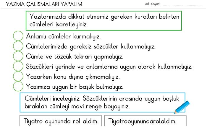 Yazma 2 Sinif Turkce Morpa Kampus