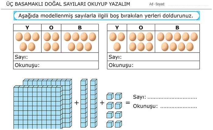 3 Sınıf Matematik Dersi ödevleri Morpa Kampüs