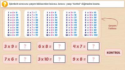 3 Sinif 3 Unite Matematik Calismalari Morpa Kampus