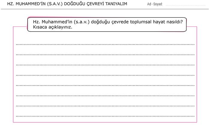 Hz. Muhammed'in (s.a.v.) Doğduğu Çevreyi Tanıyalım