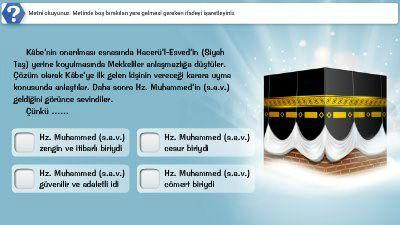 Hz. Muhammed'in (s.a.v.) Çocukluk ve Gençlik Yıllarındaki Erdemli Davranışları