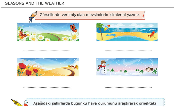 Seasons and The Weather / Mevsimler ve Hava