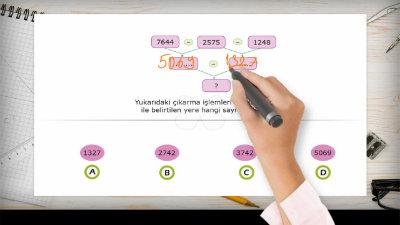Doğal Sayılarla Çıkarma İşlemi Yapalım 3