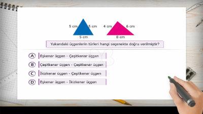 Üçgenleri Kenar Uzunluklarına Göre Sınıflandıralım 1