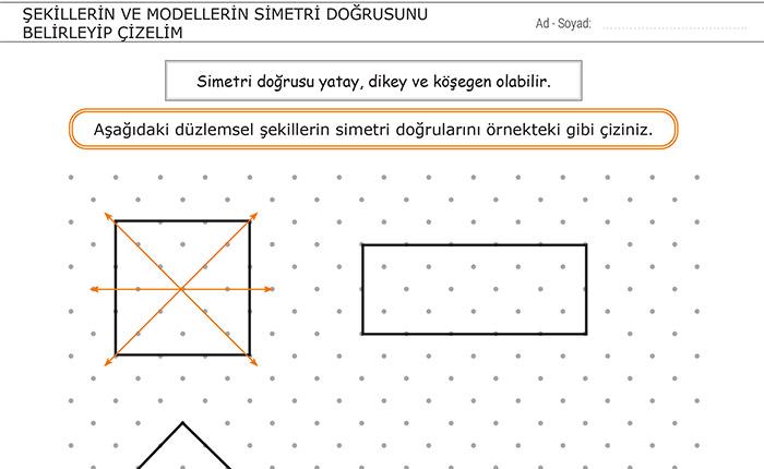 Şekillerin ve Modellerin Simetri Doğrusunu Belirleyip Çizelim