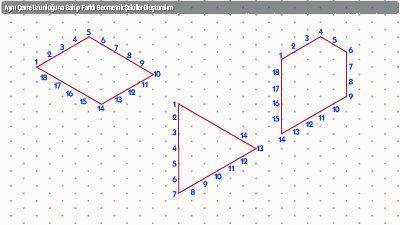 Aynı Çevre Uzunluğuna Sahip Farklı Geometrik Şekiller Oluşturalım