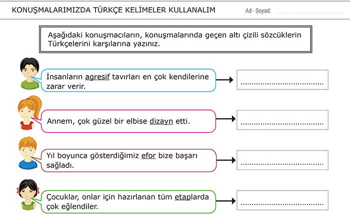 Konuşmalarımızda Türkçe Kelimeler Kullanalım