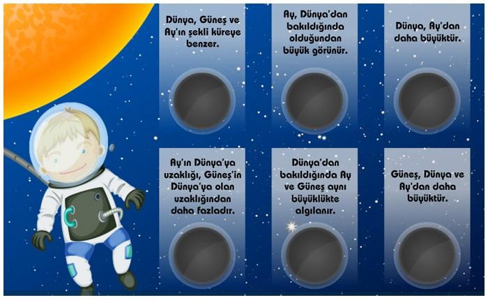 güneş dünya ve ay hareketleri MODELİ ANİMASYON ile ilgili görsel sonucu
