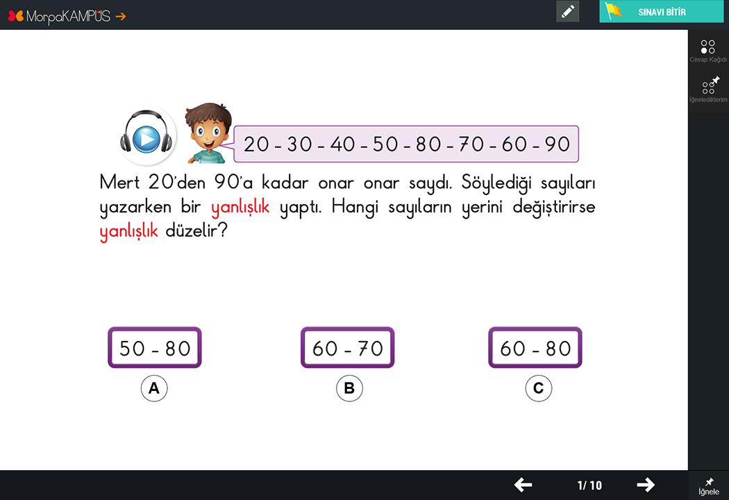 1. Sınıf Matematik Test Soruları