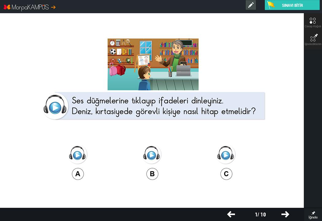 1. Sınıf Türkçe Test Soruları