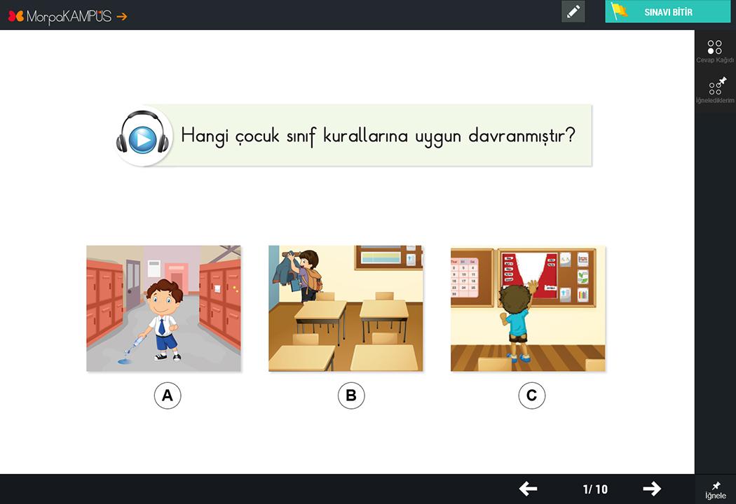 1. Sınıf Hayat Bilgisi Test Soruları