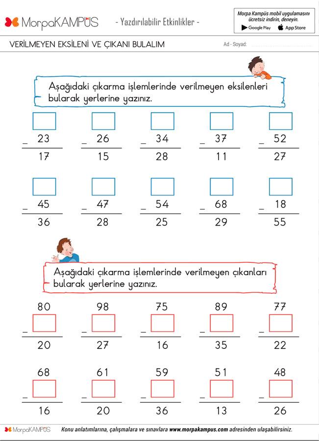 2. Sınıf Matematik Ödevi