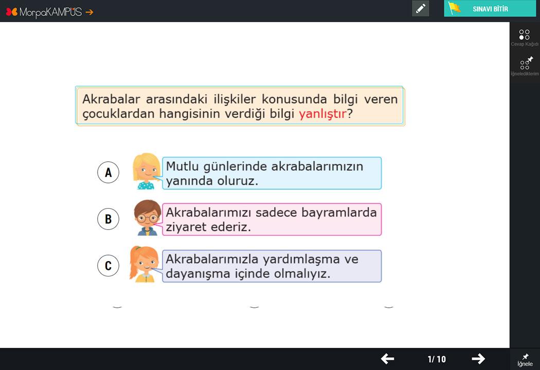 2. Sınıf Hayat Bilgisi Testleri