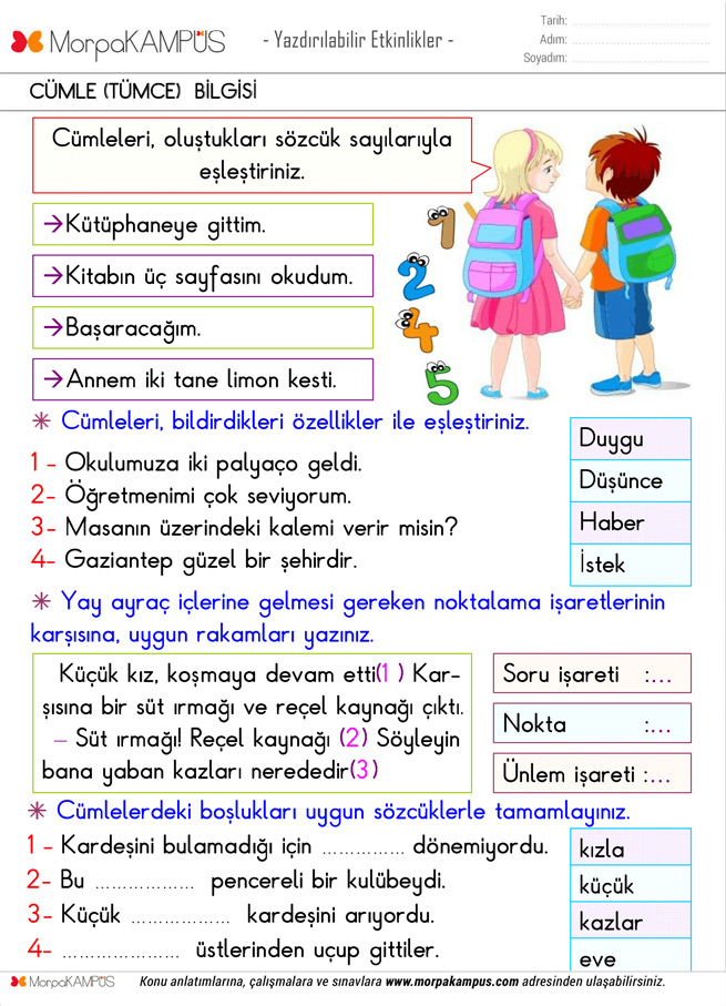 3. Sınıf Matematik Ödevi