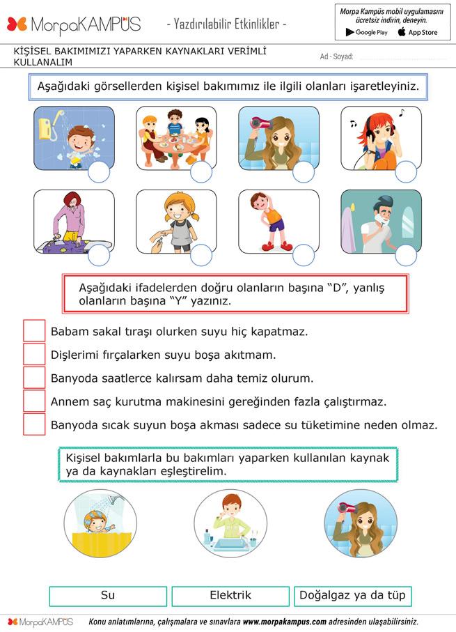 3. Sınıf Hayat Bilgisi Ödevi