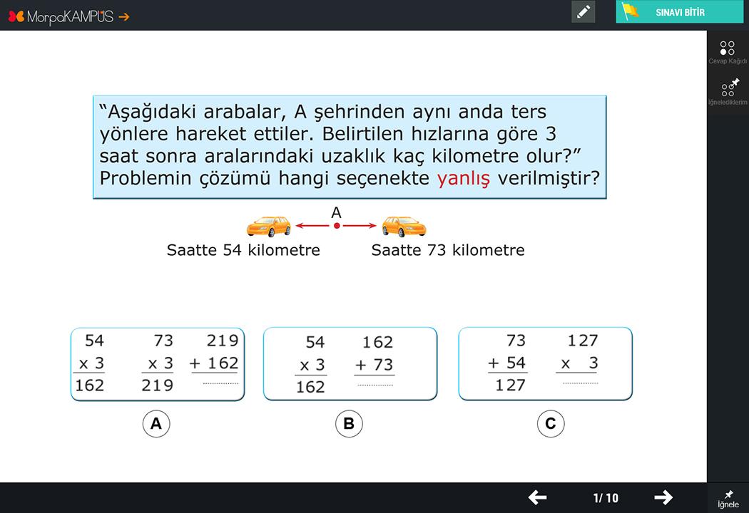 3. Sınıf Fen Bilimleri Test Sorusu