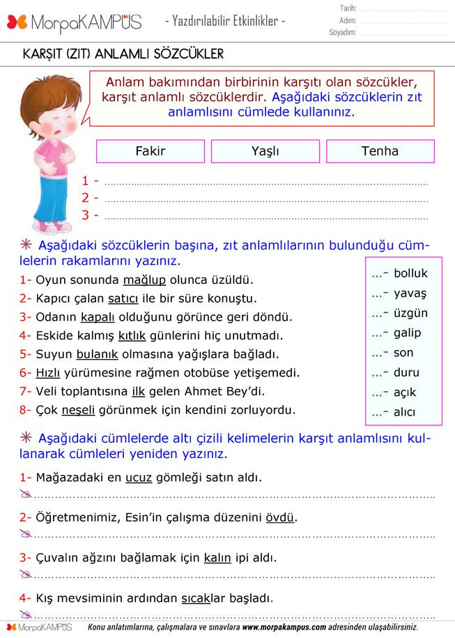 4. Sınıf Matematik Ödevi