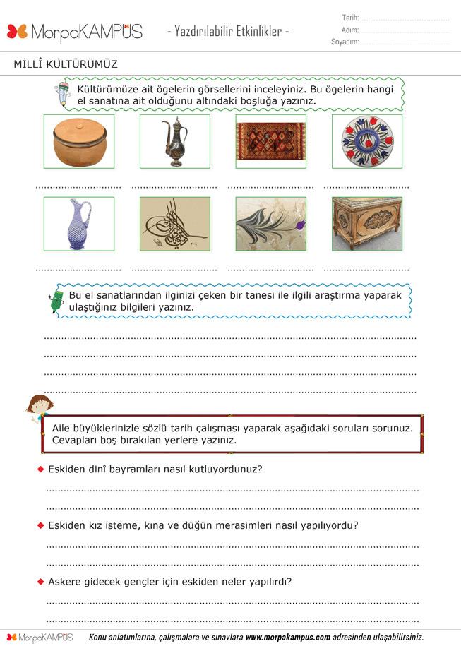 4. Sınıf İngilizce Ödevi