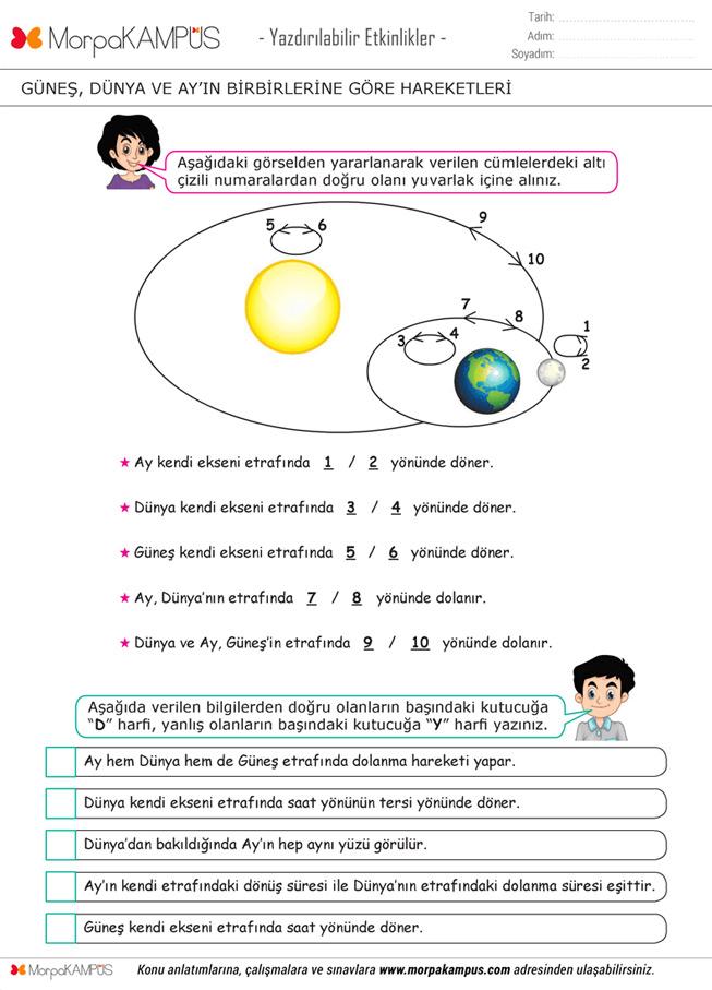 5. Sınıf İngilizce Ödevi