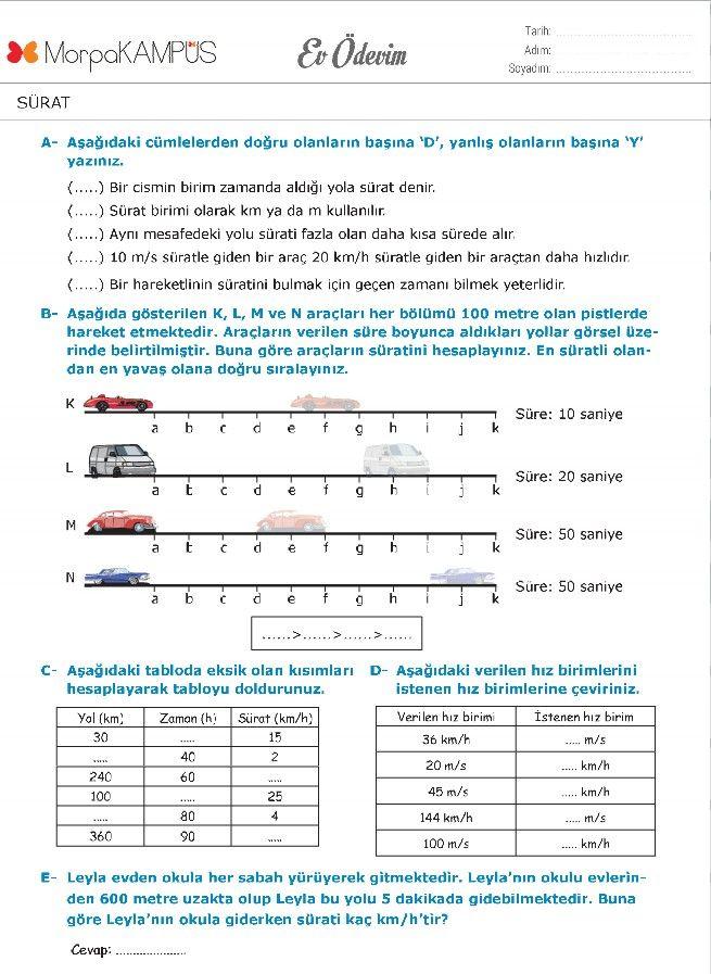 6. Sınıf İngilizce Ödevi