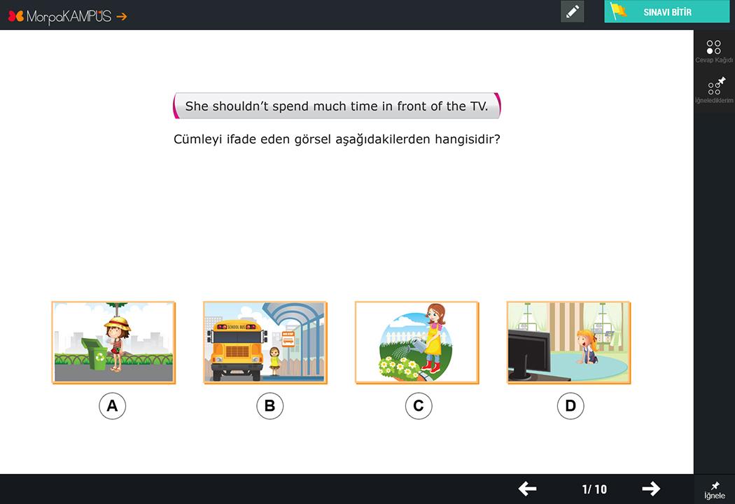 6. Sınıf İngilizce Test Sorusu