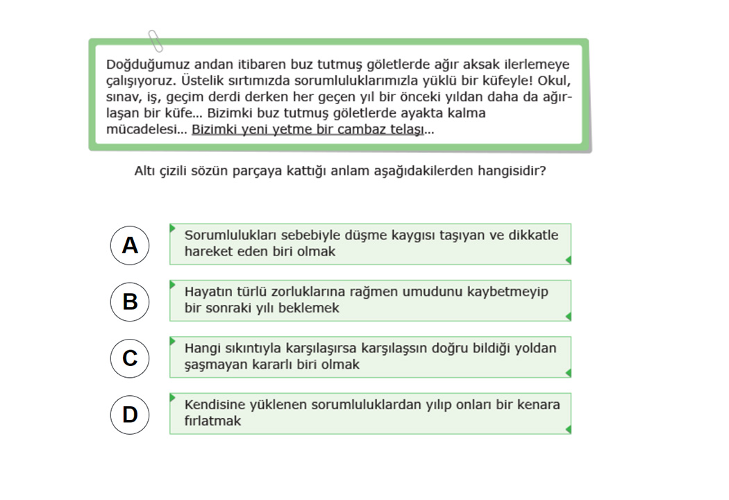 8. Sınıf TEOG TEOG Matematik Test Soruları