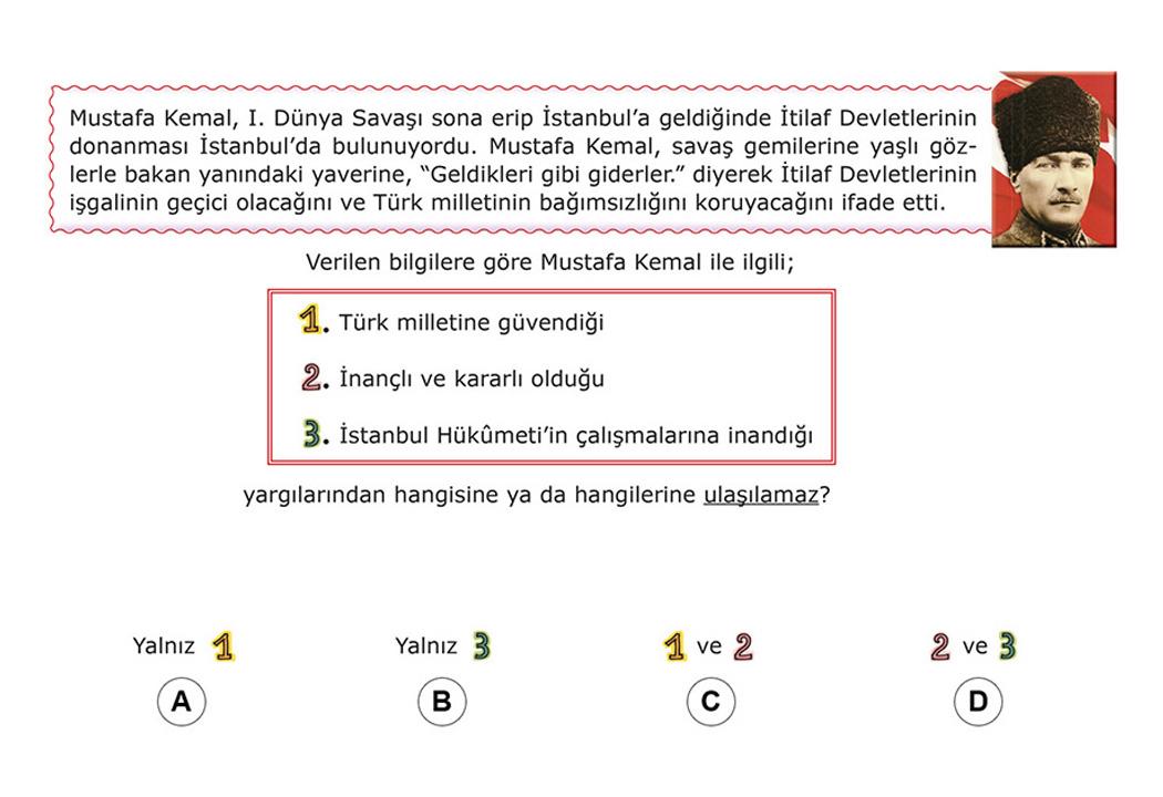 8. Sınıf TEOG İngilizce Test Soruları